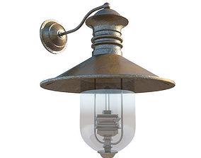 Wall-mounted street lamp 3D