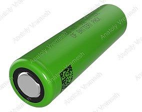 3D model 18650 battery