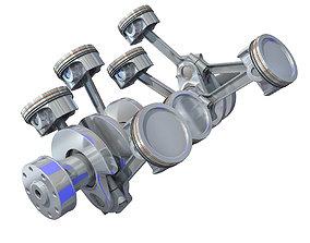 V8 Engine Cylinders 3D