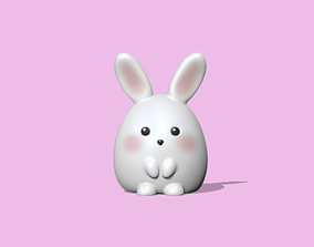 3D print model A Cute Bunny to decorate and play