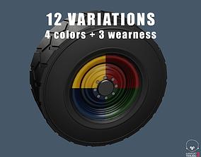 3D asset Truck tractor wheels 12 variations