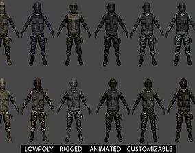 3D asset Customizable Soldier