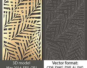 decorative panel 120 3d model and vector format