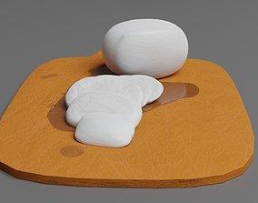 3D model Sliced mozzarella