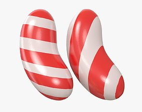3D Candy Stripe Red model