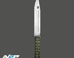 Bayonet CS GO Knife 3D model