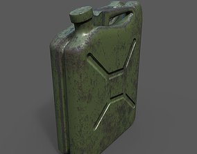 diesel 3D model game-ready Jerry Can