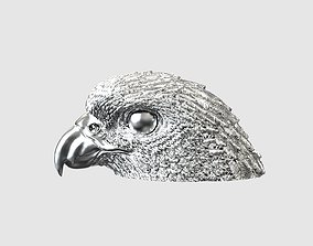 Falcon head necklace high detail 3D printable model