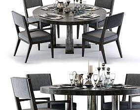 3D Bernhardt Linea Dining Set