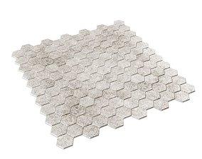 Hexagon Mosaic Tile 3D