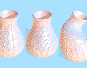 heart Vase Heart 3D