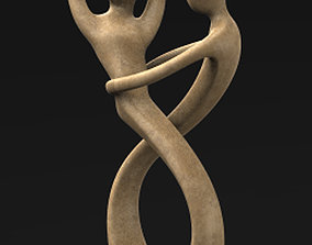 The Dance Sculpture Decorative 3D Model