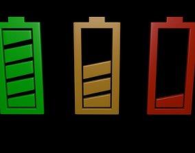 3D Battery symbol 2