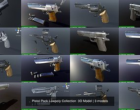 Pistol Pack Lowpoly Collection 3D Model