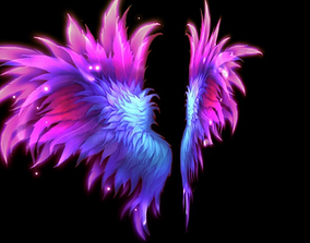 Fairy Wings 3D asset animated