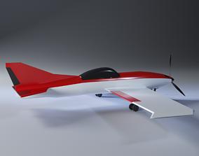 3D model VR / AR ready Toy airplane