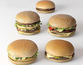 3D model Burger collection