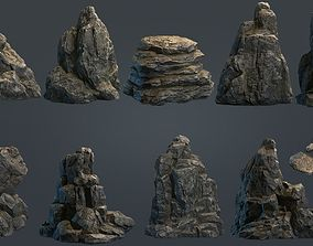 3D model Boulders Collection PBR Game Ready