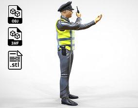N2 Traffic Police with Radio miniature 3D printable model