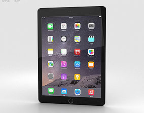 Apple iPad Air 2 Space Grey 3D