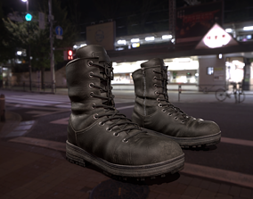 3D asset Leather high boots with 2 colors
