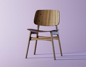 Soborg 3050 Wood Chair 3D