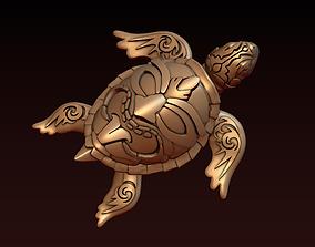 Turtle with Tiki Mask Ornament 3D printable model