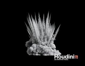 Houdini - Shrapnel Explosion 3D model