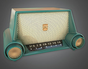 3D model Retro Radio Midcentury Collection PBR Game