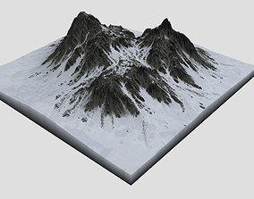 3D Snowy Mountain MTT12