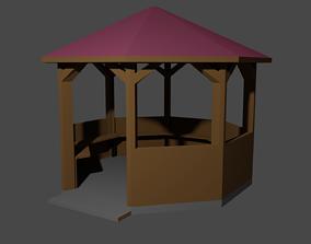 Gazebo Pavilion Arbour 3D asset