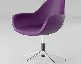 3D model Purple leather office chair