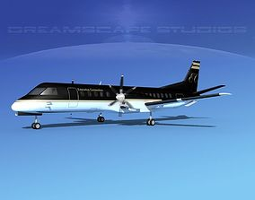 SAAB 2000 Executive Connection 3D model