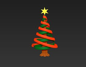 Christmas tree simple rotatable assembly model