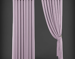 low-poly Curtain 3D model 220