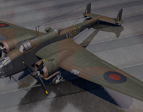 3D model Handley Page Hampden Mk-1 bomber