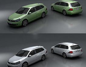 Volkswagen Golf Variant 3D asset