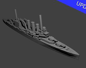 3D printable model British County Kent Class Cruiser