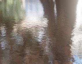 Realistic Water Scene Blender Material Animated 3D model