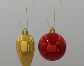 Christmas Bauble 3D model low-poly