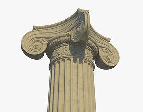 3D model Ionic column corner a