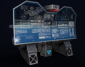 3D model Sci-Fi Console-Computer 7