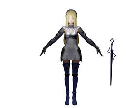 Danmachi Aiz Beautiful Warrior 3D asset