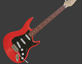 Electric guitar 3D model instrument