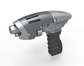 Starfleet phaser pistol from Star Trek 3D model 2