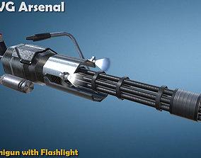 3D model Minigun - HQ