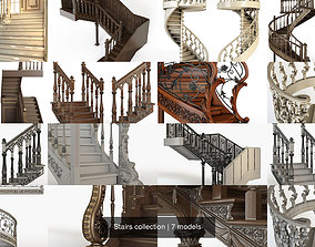interior 3D model Stairs collection