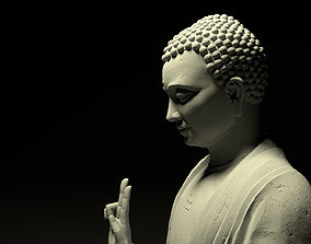 low-poly 3d Giant Mountain Buddha Modeling