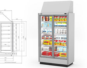Refrigerator with Food 3D model