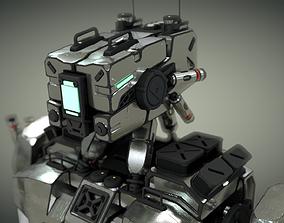 robot rigged design 3D